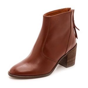 Madewell Brown Leather Ames Stack Heel Boots - 6